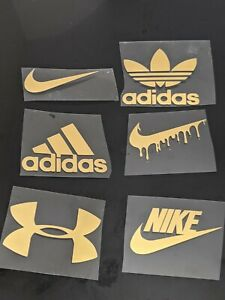 Iron on unofficial logo. Various Sizes, brands, Nike, Adidas, Under Armour