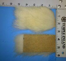 """Vintage Polar Bear Hair, 2"""" X 4"""" patch of 1.25""""-2"""" Length Hair"""