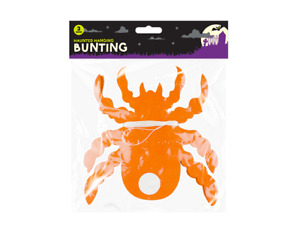 Halloween Paper Spider Bunting Orange/Black Haunted 3 Metre Decoration