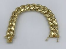 Sterling Silver .925 Yellow Gold Plated Cuban Bracelet 245g 20mm