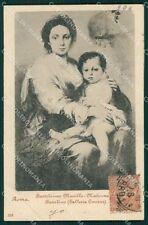 Roma Città Bartolomeo Murillo Madonna Bambin Gesù cartolina XB4184