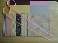 "Stampin Up SPRING FLOWERS 6 X 6"" Designer Paper Card Kit Ribbon RARE"