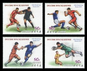 Korea 2018 soccer football Russian World Cup FIFA 4v set MNH