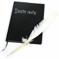 Death Note Anime Notebook + Quill Feather Pen Light Yagami Cosplay Book Diary