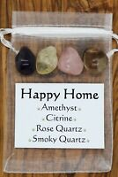 Happy Home Crystal Gift Set Amethyst Citrine Rose Smoky Quartz New Home