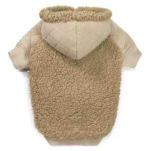 Zack & Zoey TEDDY BEAR FLEECE HOODIE Quilted Cuddly High-Cut Stay-Dry Belly