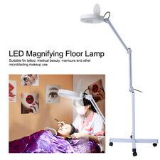15W LED 8x Lupenleuchte Lupenlampe Standlupe Rollstativ Kosmetik Lampe Lupe LI A