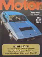 Motor magazine 18/5/1974 featuring Toyota road test, BMW, Lotus Elite cutaway