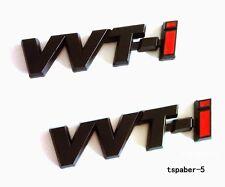 Metal Black VVTI Emblem Sticker Badge