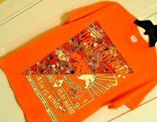 Mens CALIFORNIA t shirt tee size Medium neon orange