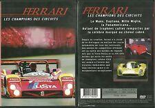 DVD - FERRARI - LES CHAMPIONS DES CIRCUITS LE MANS DAYTONA MILLE / COMME NEUF