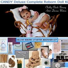 Reborn CANDY Complete Beginner Starter DELUXE Kit Lot DVD, PAINTS, BODY, MOHAIR