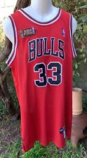Scottie Pippen #33 Nike Chicago Bulls BBall Red Jersey M48 NBA Finals Patch NWT