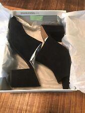 A New Day Womens Black Block- Mules Heels Peep Toe Didi -Size 12