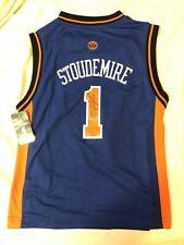 Amare Stoudemire Signed NY Knicks Kids Jersey Medium Auto Autographed