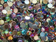 100x Round Shaped Resin Flatback MIXED Embellishment Gems 5mm