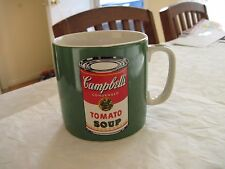 Andy Warhol Campbell's Tomato Soup Coffee Mug Green 16oz Large Signature