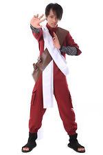 Naruto Shippuden Hidden Cosplay Costume Sand Kazekage Gaara Maroon Outfit V3 Set