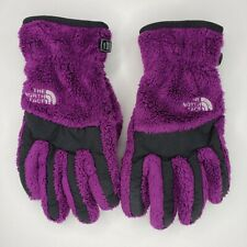 The North Face Large Gloves Girls Thermal Denali Purple Fuzzy Fleece