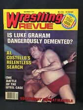 Wrestling Revue Magazine December 1978 WWE WWF WCW NWA AWA Pro Illustrated