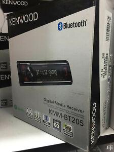 Kenwood KMM-BT205 Single Din Bluetooth Front USB AUX Digital Media Receiver NEW