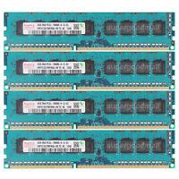 For Hynix 32GB 4X8GB 2Rx8 PC3L-10600E DDR3-1333Mhz ECC Unbuffered Memory RAM