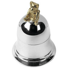 Christening Gift Hallmarked Silver Teddy Bear On Bell First Tooth Box