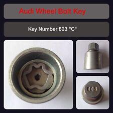 "Genuine Audi Locking Wheel Bolt / Nut Key 803 ""C"" 17 Hex"