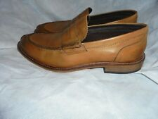 IKON MEN'S BROWN LEATHER SLIP ON LOAFER ELEGANT SHOES SIZE UK 10 EU 44.5 NWOT
