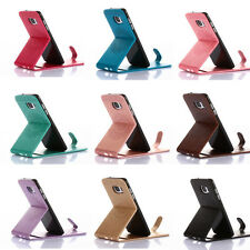 Vertical PU Leather Flip Pattern Case Cover Carry Pouch For Samsung S8 Note 8 S7