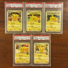 PSA 10 GEM MINT PIKACHU 10TH ANNIVERSARY POKEMON CENTER COMPLETE CARD SET 102/DP