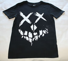 DC Comics Suicide Squad Logo Mens Black Printed Short Sleeve T Shirt Size XXS