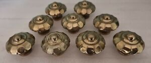 Vintage Drawer Handles Pull Knobs Reclaimed Flower Style Ornate brass Job Lot
