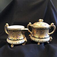 Antique Royal Nippon Fancy Gilt Porcelain Cream and Sugar