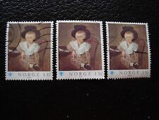 NORVEGE - timbre yvert et tellier n° 750 x3 obl (A30) stamp norway