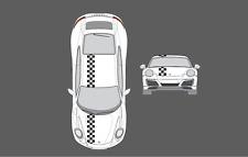 Porsche 911 (991) Bonnet & roof Chequer Chequered Stripe Graphic Decal Set