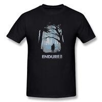 The Last of Us Endure Winter Forest Hunt Endure Mens T-Shirt Black