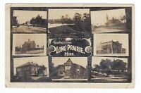 1910 RPPC LONG PRAIRIE MN STREET CHURCH COURT HOUSE VINTAGE POSTCARD MINNESOTA !