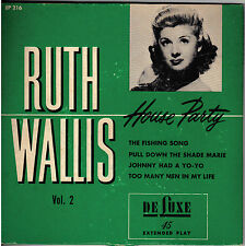 "RUTH WALLIS!! - ""HOUSE PARTY"" VOL TWO"" DELUXE EP-216 ADULT COMEDY EXT PLAY VG!!"
