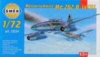 SMER Plastic Model Kit 1/72 Airplane Messerschmitt Me 262 B1a U1