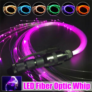 360° Peitsche Tanz  RGB LED Optik Lichtpunkte Glasfaser Lichtfaser