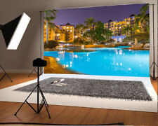 Studio Props Backdrops Vinyl Swimming Pool Photography Background 7x5ft Villa