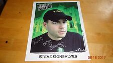 Steve Gonsalves Signed 8x10 Autographed With COA RARE TAPS Ghost Hunters