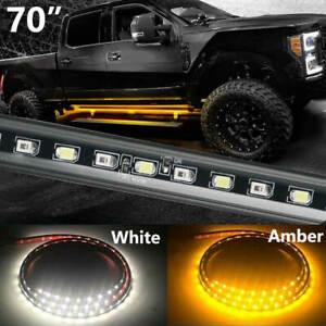 70 Inch Side Running Board LED Light Strips - Amber Turn Signal pickup truck