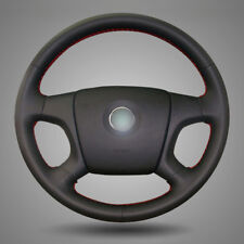 BANNIS Black Leather Steering Wheel Cover for Old Skoda Octavia Fabia