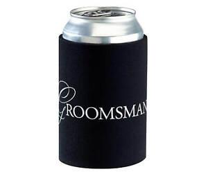 Wedding Party Cup Cozy, Groomsman and Bridesmaid Set