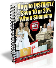 HOW TO INSTANTLY SAVE 10 OR 20% WHEN SHOPPING PDF EBOOK FREE SHIPPING