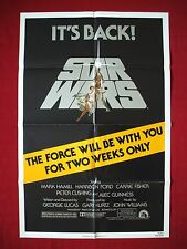 STAR WARS * 1981 ORIGINAL MOVIE POSTER AUTHENTIC NSS RE-RELEASE OF 1977 CLASSIC