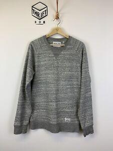 MIYUKI ZOKU, Mens Size M, Grey Marl, Small Logo, Crew Neck, Sweatshirt,*EX COND*