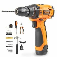 VonHaus Cordless Drill Li-Ion 1300mAh Max Torque 23nm with LED & 32 Pc Tool Set